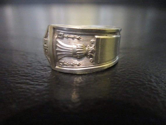 Handmade silverware spoon ring  7 1/2