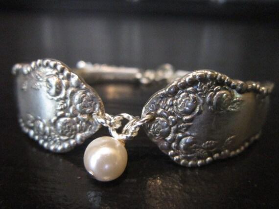 Hand-crafted Silverware Bracelet