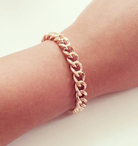 Rose Gold Curb Link Bracelet