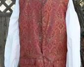 Pirate Vest Brocade Jack Sparrow LARP Historical Waistcoat Colonial Costume