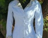 Victorian Bustle Walking Dress Historical Costume Gown Summer LARP