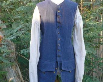 Linen Pirate Vest Colonial Jack Sparrow Waistcoat LARP Historical Costume