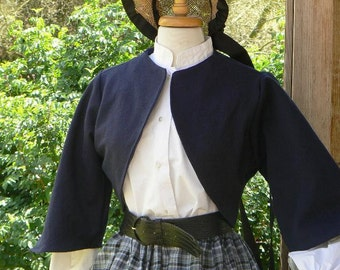 Victorian Short Bolero Jacket Civil War Zoauve Historical Costume