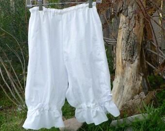Womens Cotton Bloomers Victorian Knickers Adjutable Waist Knee Length Cosplay LARP