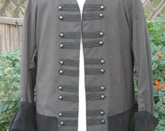 Colonial Pirate Coat Tuxedo Style Renaissance Frock Wedding Waistcoat