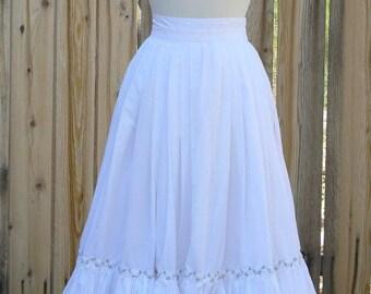 Cotton Petticoat Skirt with Ruffle Victorian Pirate Steampunk