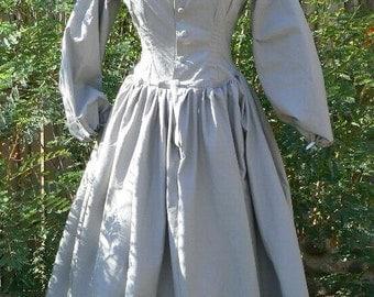 Civil War Victorian Camp Dress Historical Costume LARP Prairie Calico