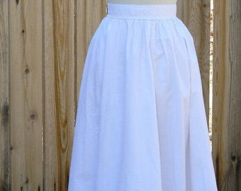 Victorian Renaissance Petticoat Multi Period Cotton Skirt Adjustable
