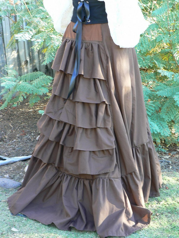 Victorian Bustle Skirt Steampunk Costume with Ruffles Sweeney Todd