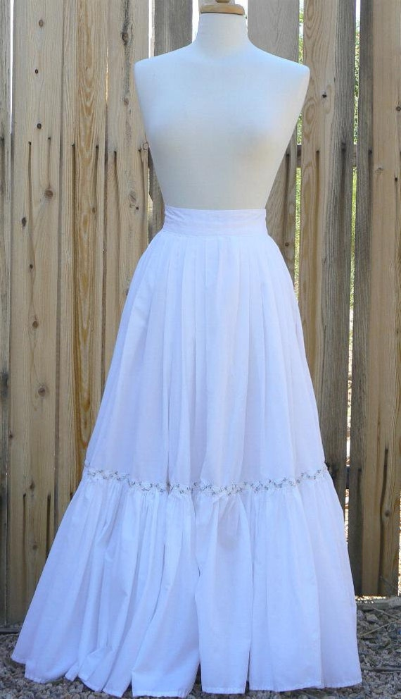 Victorian Hoop Skirt, Petticoat, Underwear Cotton Petticoat Skirt with Ruffle Victorian Pirate Steampunk $67.00 AT vintagedancer.com