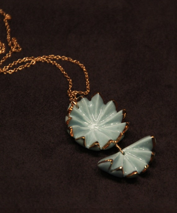 Pale Blue Shell Pendent
