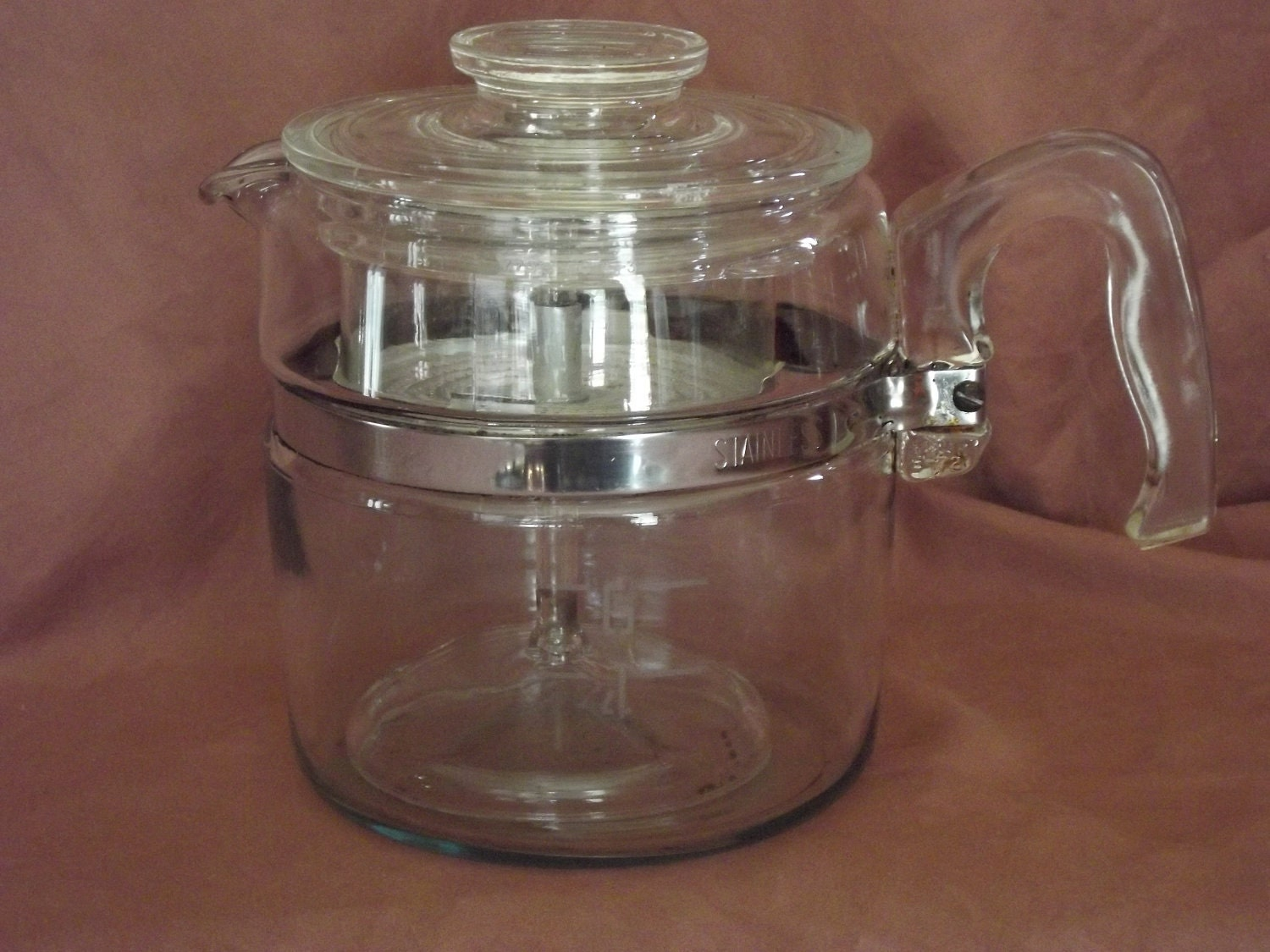 Pyrex Glass Coffee Pot Flame Wear Percolator