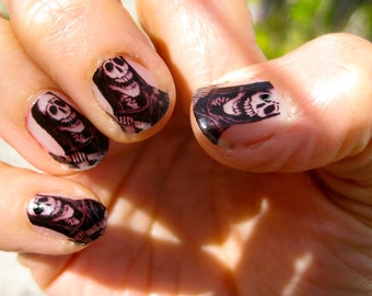 Nail Decals Posada Skeleton Day of the Dead Nail Art