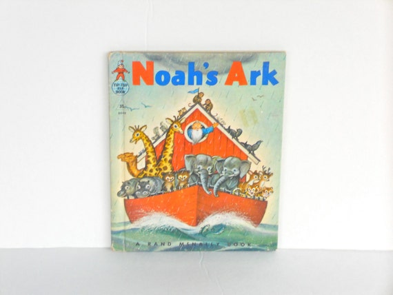 Vintage Children's Book: Tip- Top Elf Book, Rand McNally, Good Condition, Noah's Ark