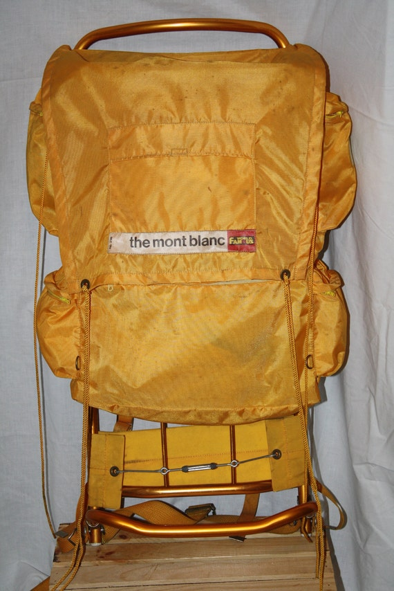The Mont Blanc Vintage World Famous Backpack External By