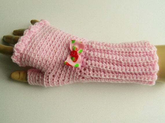 Pretty in Pink Fingerless Gloves, Mittens