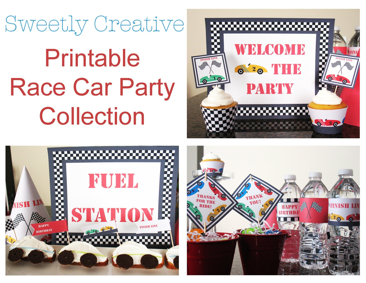 Race Car Birthday Party: Race Car Party Collection Printable INSTANT DOWNLOAD