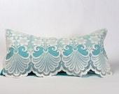 Shabby Chic Pillows, Lace Pillow, Turquoise Pillow, Victorian Pillows, Vintage Pillows
