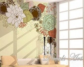 Flowers - Vinyl wall sticker- wall decal- tree decals- wall murals art- nursery wall decals- Nature- Children- floral
