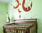 Moon Baby - Vinyl wall sticker- wall decal- tree decals- wall murals art - nursery wall decals- Nursery -Nature