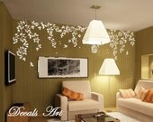 "Vines  103""X30"" -Vinyl wall sticker- wall decal- tree decals- wall murals art - nursery wall decals- Nature- Tree"