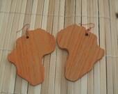 Orange Africa Wood Earrings
