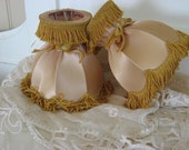 RESERVED--Antique Flapper- French Shabby Lamp shades-Victorian-Cottage Vintage Lampshades