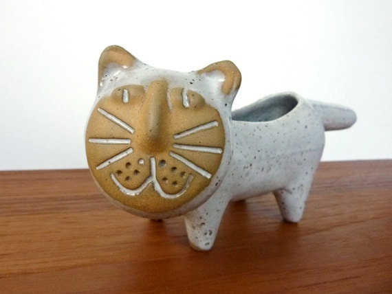 Cute Cat Planter by David Stewart for Lion's Valley