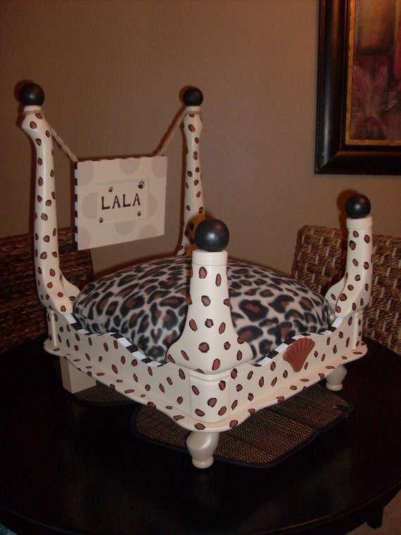 Items Similar To Hand Painted Handmade Wood Dog Pet Bed