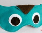 Owl Sleep Mask / Adjustable Eye Mask / Teal