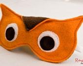 Owl Sleep Mask / Adjustable Eye Mask / Orange