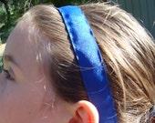 No Slip Sports Headband - Navy Blue Solid, Made to Order