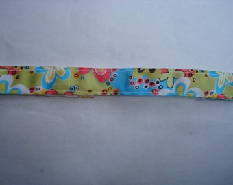 Sports/Comfort Headband No Slip - Mod Green/Blue Floral, Made to Order