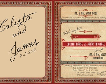 Bookplate Art Deco Great Gatsby Invitation