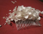 Natural silk flowers - hair accessory (comb) MADE TO ORDER