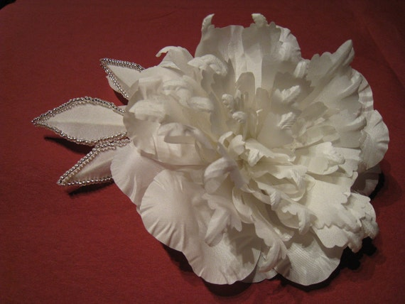 Bridal headpiece -Bridal flower - hair accessory (comb), peonies, 100% HANDMADE, wedding accessories, fabric flower