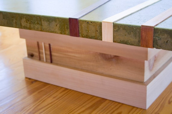 Green Concrete Top Coffee Table