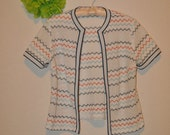 Chevron Summer Short Sleeve Cardigan