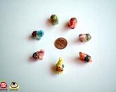 Miniature Ceramic Elephant Figure, red elephant, ceramic elephant, miniature ceramic animal, miniature elephant, little animal
