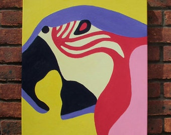 Parrot - Canvas painting