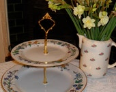 2 Tier Cake Stand - Floral Pattern