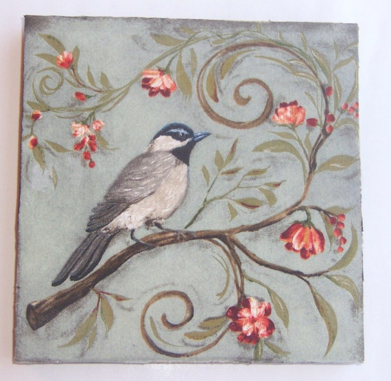 Wall Plaque Birds and Branches