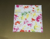 pink yellow paint themed sandwich bag