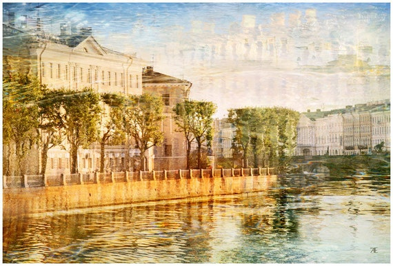 Architecture art print, St Petersburg art Photography, European city travel photo, landscape Watercolor wall art, Russia, living room decor