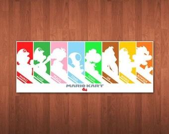 "Mario Kart 64 Poster - 24"" x 9"""