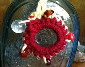 Boho Beaded Crochet Keychain