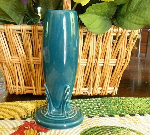 Bud Vase by Fiesta Ware - HLC - Juniper Color - Vintage