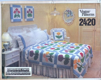 Vogue 2420 Pattern Meredith Gladstone Bed Linens Uncut