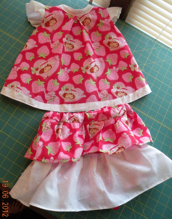Strawberry Shortcake Outfit, Xlarge, 12-18 months