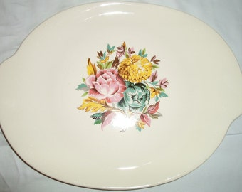 Vintage retro American Limoges china platter Glamour